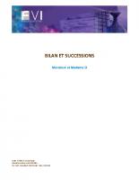 Bilan patrimonial et successions